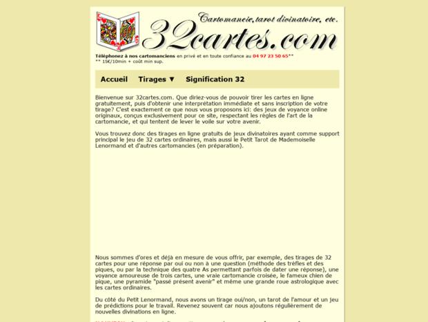 Bienvenue Au 32cartes Com Page Tirage Gratuit Des 32 Cartes Ordinaires Cartomancie Et Interpretation Immediate