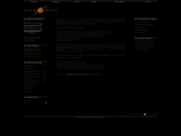 Bienvenue Au Astromail Fr Page Astrologie Theme Astral Gratuit