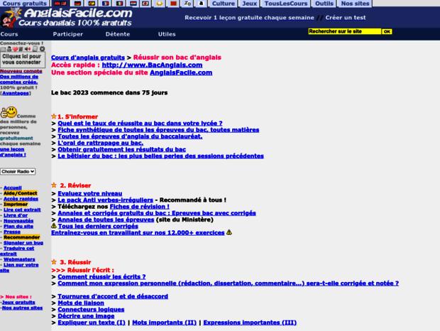 Bienvenue Au Bacanglais Com Page Bacanglais Com Reussir Son Baccalaureat D Anglais Epreuves Ecrites Et Ora