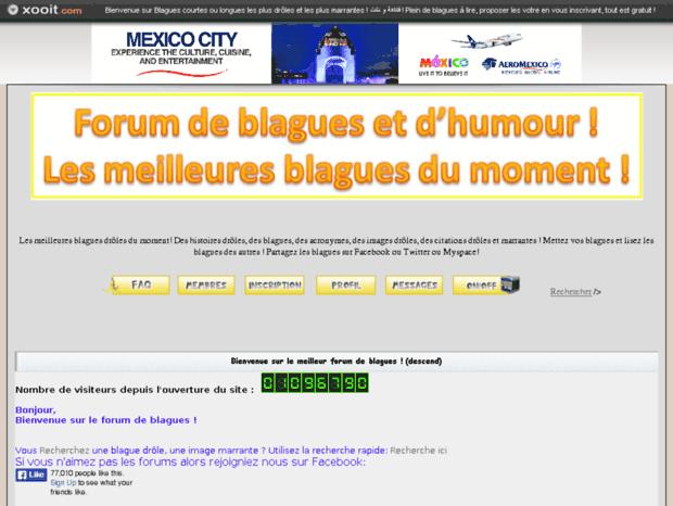 Bienvenue au blagues.vraiforum.com page - Forum de blagues, blagues ... Forum de blagues, blagues blonde, blague toto, blagues drôle, blagues  marrante, .