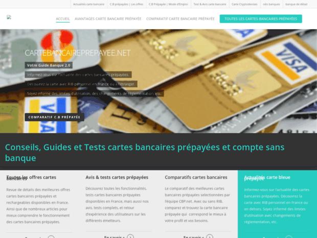 Bienvenue Au Cartebancaireprepayee Net Page Carte Bancaire Prepayee Avis Tests Visa Mastercard