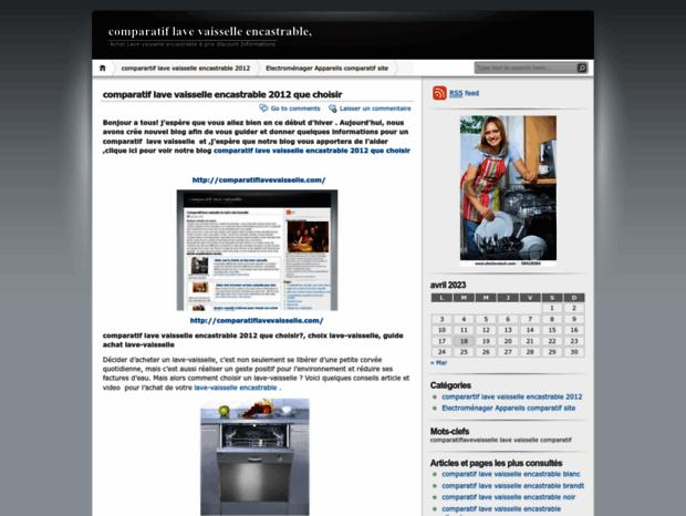 bienvenue au comparatiflavevaisselleencastrable.wordpress page