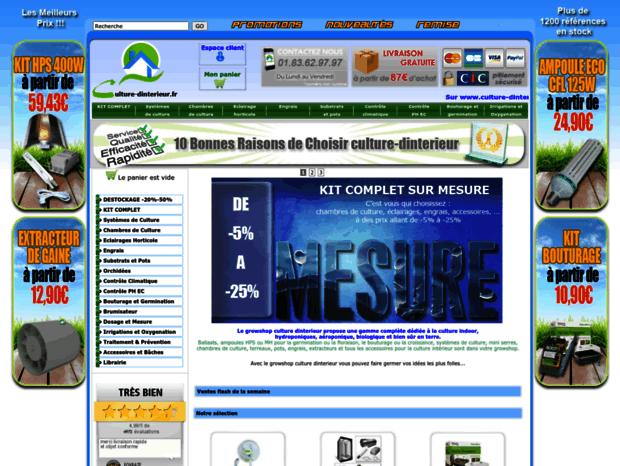 Bienvenue au culture-dinterieur.fr page - Growshop Materiel de ...