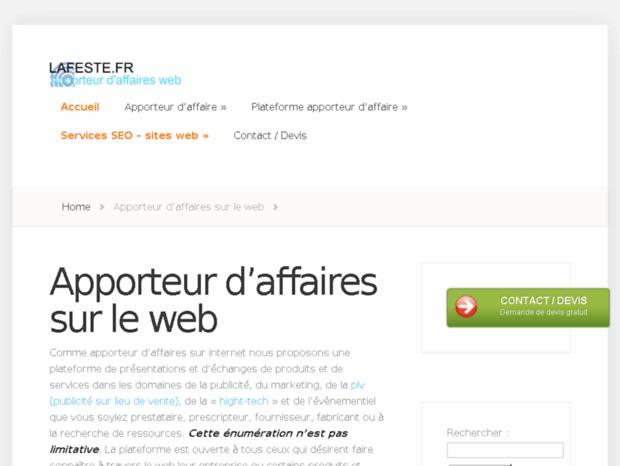 Bienvenue Au Decor Neige Fr Page Apporteur D Affaires Par Web Un
