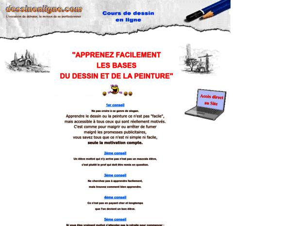 Bienvenue Au Dessinenligne Com Page Cours De Dessin Gratuit En Ligne