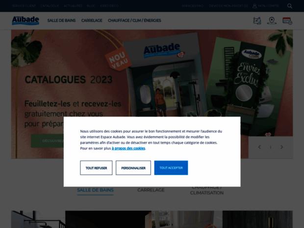 Bienvenue au espace-aubade.fr page - Salle de bain, sanitaire ...