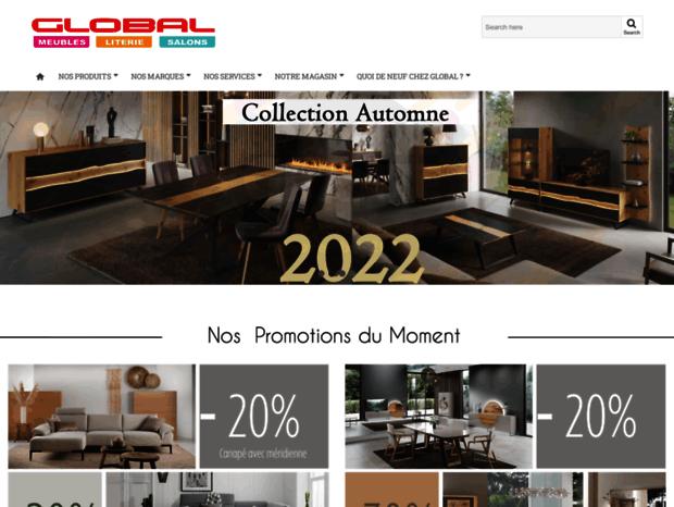 Bienvenue Au Global Meubles Com Page Global Meubles Clermont Ferrand Meubles Literie Salons Chambres Glob