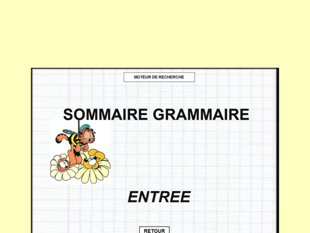 Bienvenue Au Grammaire Tableau Noir Net Page Grammaire Cycle Iii