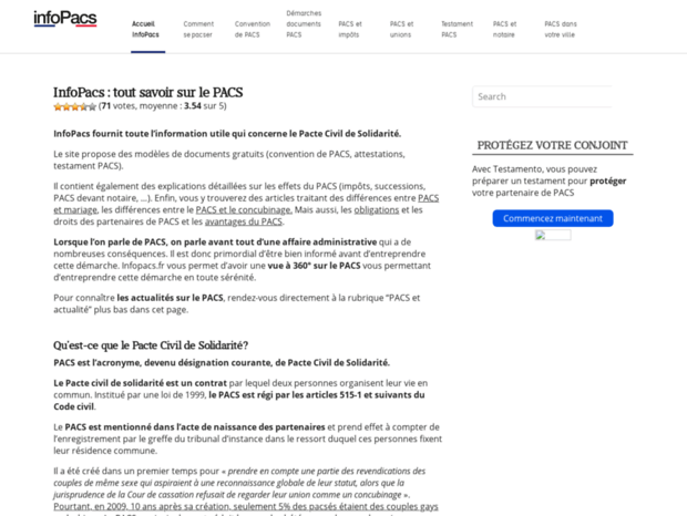 Bienvenue Au Infopacs Fr Page Infopacs Fr Pacs Le Pacte Civil