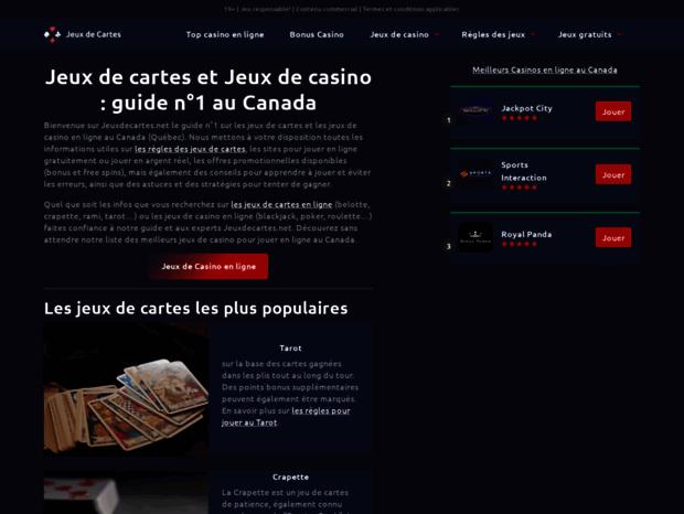 Bienvenue Au Jeuxdecartes Net Page Jeux De Cartes En Ligne Gratuits Et Leurs Regles Solitaire Belote Tarot Ram