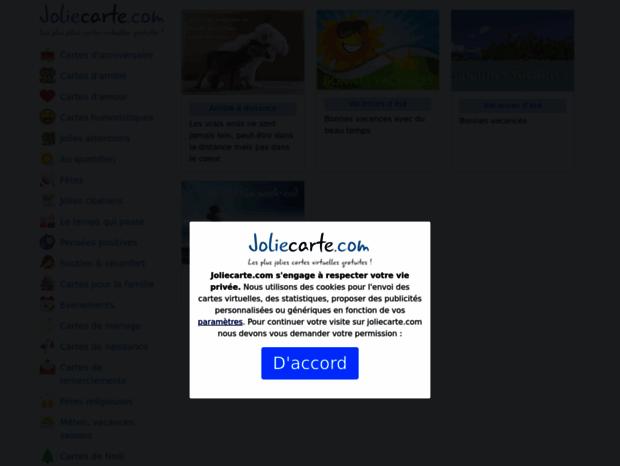 Bienvenue Au Joliecarte Com Page Jolies Cartes Virtuelles Gratuites