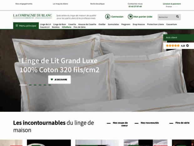 Bienvenue Au Lacompagniedublanc Com Page Linge De Maison