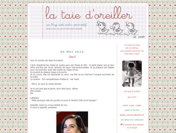 la taie d oreiller blog angel Bienvenue au lataiedoreiller..fr page   La taie d'oreiller. la taie d oreiller blog angel