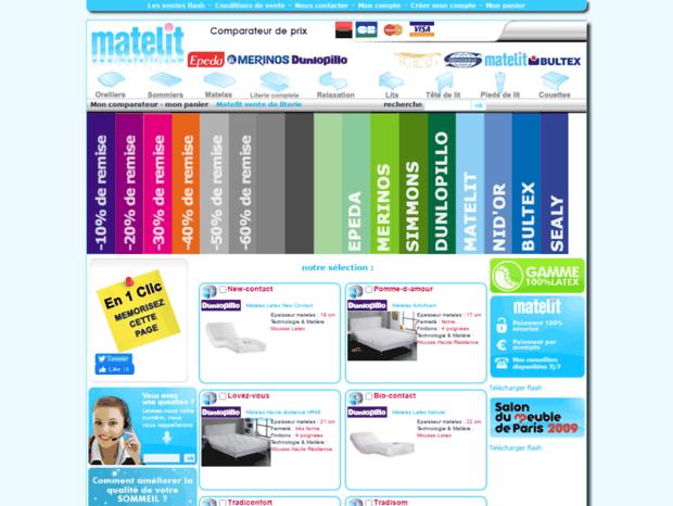 Bienvenue Au Matelit Com Page Achat En Ligne Lits Literie Matelas