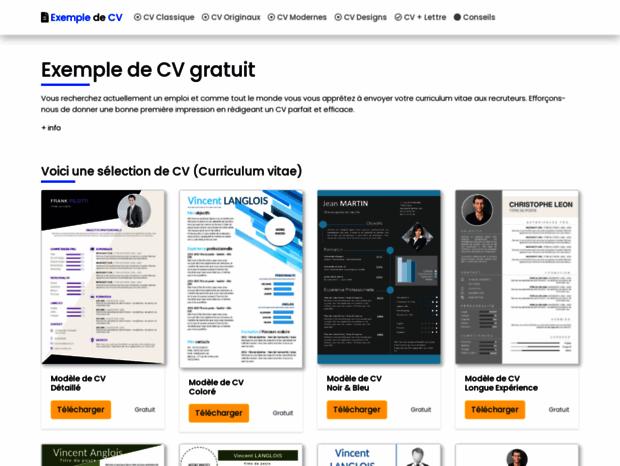 Bienvenue Au Maxicv Com Page Exemple De Cv Original Modele De Cv Design Maxi Cv