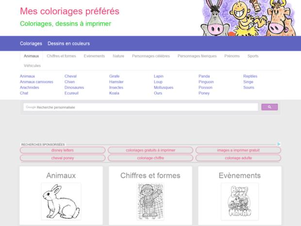 Bienvenue Au Mes Coloriages Preferes Biz Page Mes Coloriages Preferes Coloriages Dessins A Imprimer De Vos Heros Favoris