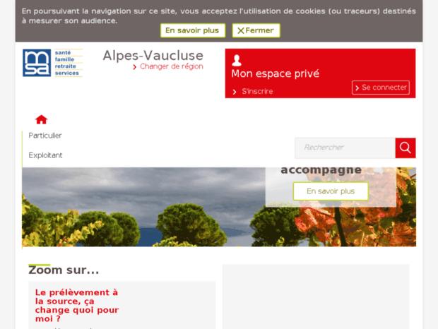 Carte Assurance Maladie Msa.Bienvenue Au Msa Alpesvaucluse Fr Page Msa Alpes Vaucluse Accueil