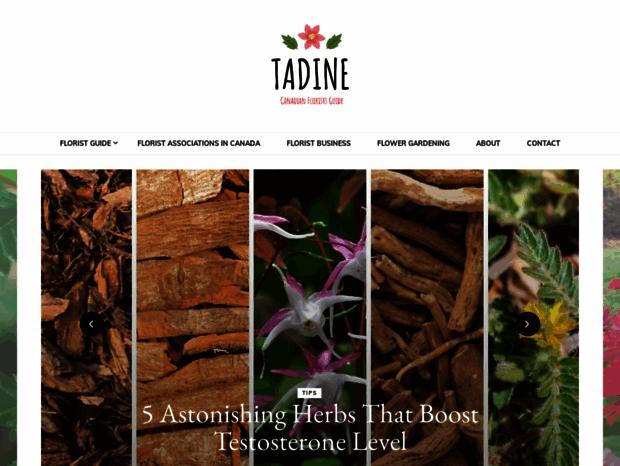 Bienvenue au tadine.ca page - Au Jardin secret de Tadine.