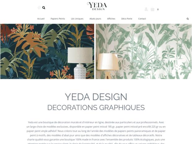 Bienvenue Au Yeda Fr Page Yeda Design Stickers Papiers Peints Textiles Et Adhesif Tableaux Design Pri
