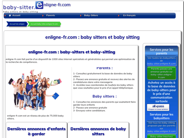 Bienvenue Au Baby Sitter Enligne Fr Com Page Baby Sitter