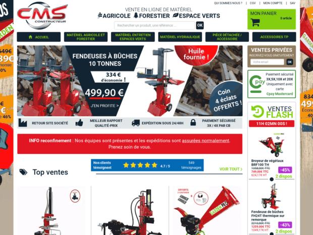 CMS Constructeur vente pièce matériel agricole, forestier, hydraulique,  vérin, g. 19e37fce36b8