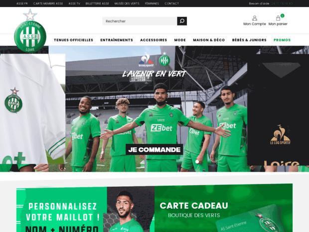 b4773403ad24 Bienvenue au boutiquedesverts.fr page - Boutique officielle ASSE ...