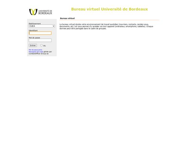 Bienvenue Au Bvu Bordeauxfr Page Bureau Virtuel