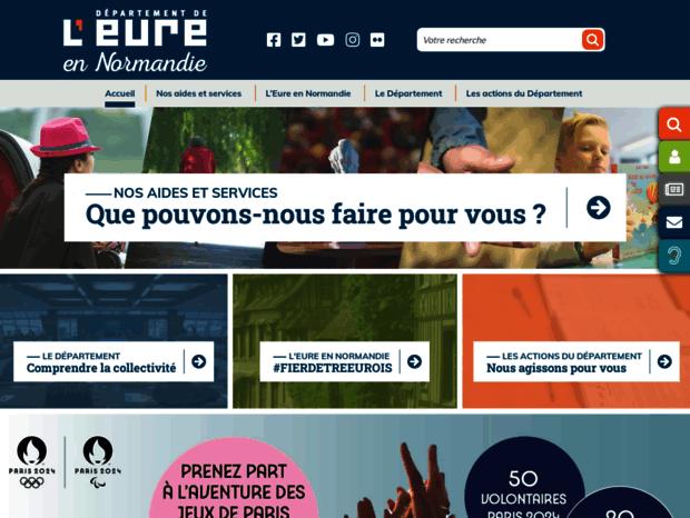 Bienvenue au cg27.fr page - L Eure en ligne. 7381a57d853d