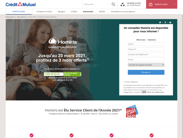 Bienvenue Au Creditmutuelprotectionvol Com Page Protection