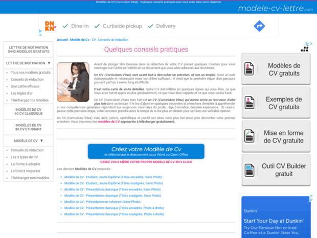 Bienvenue Au Cv Modele Cv Lettre Com Page Cv Quelques
