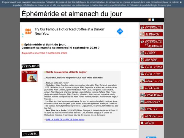 Calendrier Des Saints Et Des Prenoms.Bienvenue Au Ephemeride Name Page Ephemeride Calendrier