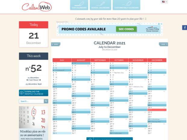 Calendrier 2022 Calenweb Bienvenue au fr.calenweb.page   Calenweb.  Calendar