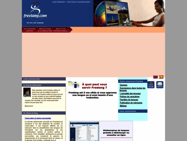dictionnaire freelang gratuit