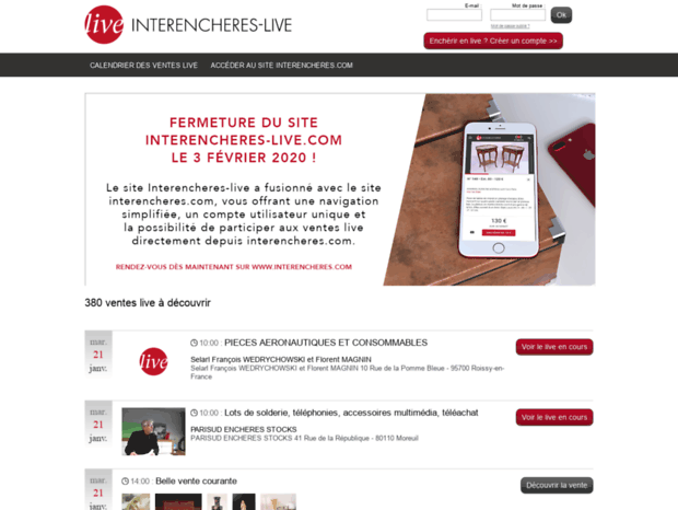 Calendrier Interencheres.Bienvenue Au Interencheres Live Com Page Interencheres