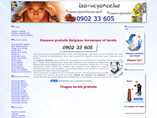 Free traffic ranks, site worth, server location, DNS report for iza-voyance.com