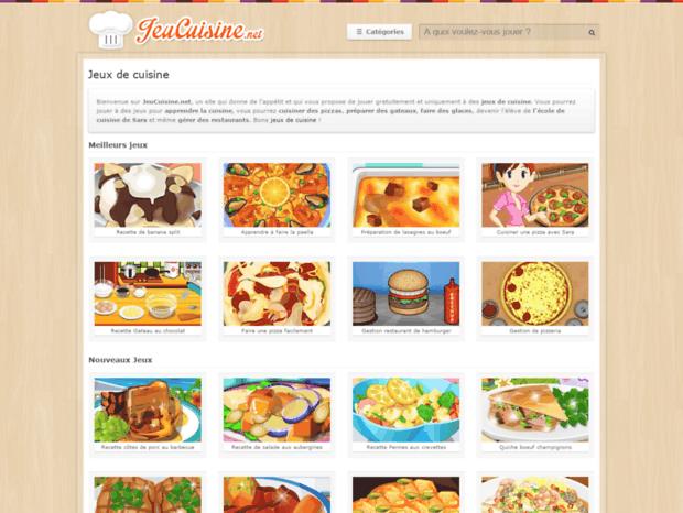 Bienvenue Au Jeucuisine Net Page Jeux De Cuisine Gratuits Sur