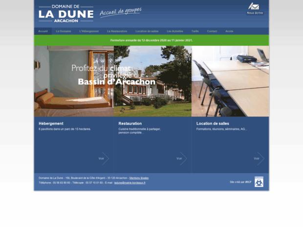 81c90ddd3a826b Domaine de La Dune   Centre d hébergement et de restauration de groupes à  Arcach.