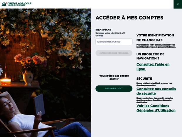 Bienvenue Au M Ca Norddefrance Fr Page Acceder A Mes Comptes Credit Agricole Nord De France