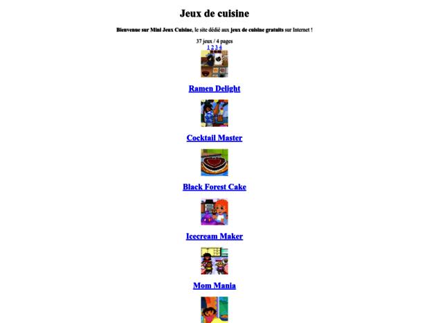 Bienvenue Au Mini Jeux Cuisine Com Page Jeux De Cuisine En Ligne