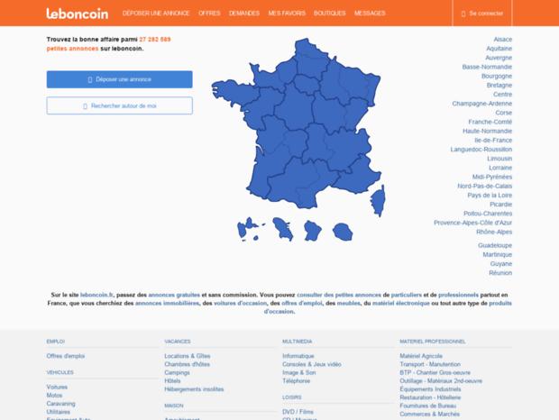 Bienvenue Au Mobile Leboncoin Fr Page Leboncoin Site De