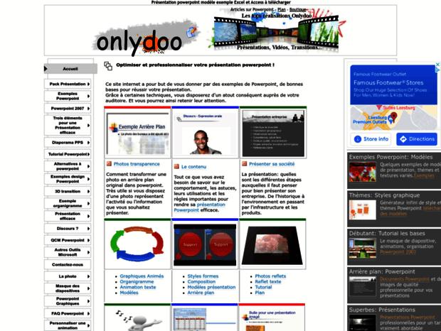 Bienvenue Au Onlydoo Com Page Présentation Powerpoint