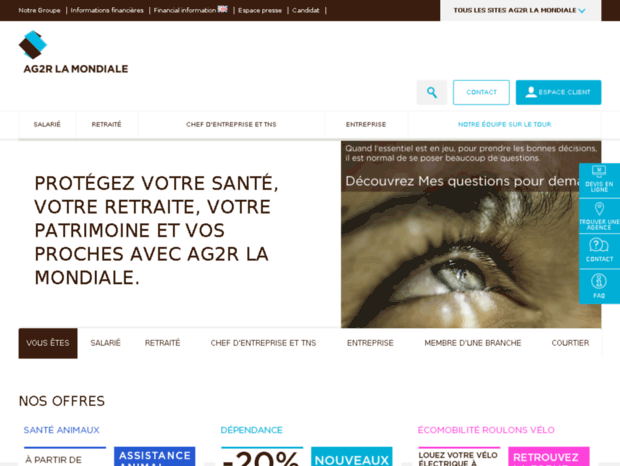 Bienvenue au reunica.com page - AG2R LA MONDIALE   mutuelle santé ... ca21ebe188de