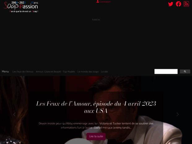 Les Feux De Lamour Calendrier Previsionnel 2019.Bienvenue Au Soap Passion Com Page Soap Passion Le Site