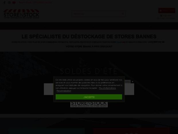 Bienvenue Au Storenstock Com Page Choisissez Votre Store