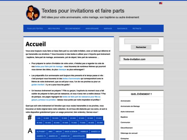 Bienvenue Au Texte Invitationcom Page Textes Anniversaire