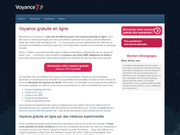 Bienvenue au voyance7.fr page - Voyance7 - Voyance par chat gratuite ... e481bacc3a3e